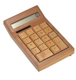 Gadget Dojo Taschenrechner aus Bambusholz