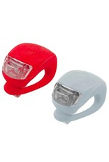 Gadget Dojo LED-Fahrradlicht 2 Stueck (rot und weiss)