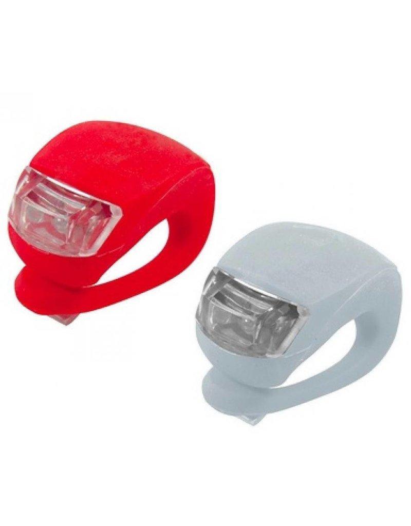 Gadget Dojo LED Fietslampje 2 stuks (rood & wit)