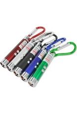 Gadget Dojo LED Laser Pen Pointer UV LED zaklamp sleutelhanger