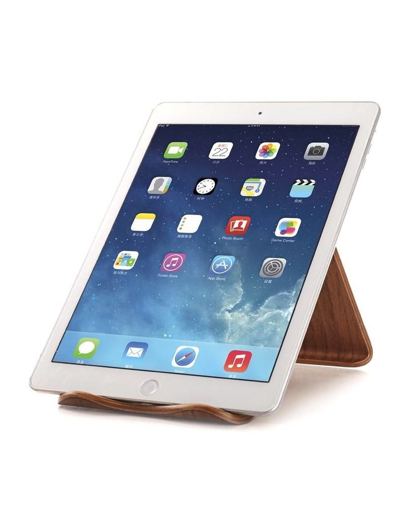 Samdi Houten iPad / Tablet Houder Standaard Universeel - Walnoot donker