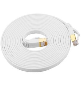 Geeek CAT7 10 Meter Platte High Speed Lan Netwerk Kabel UTP Wit