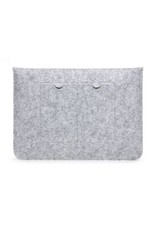 Geeek 15 inch Macbook en Laptop Soft Sleeve Case Grijs