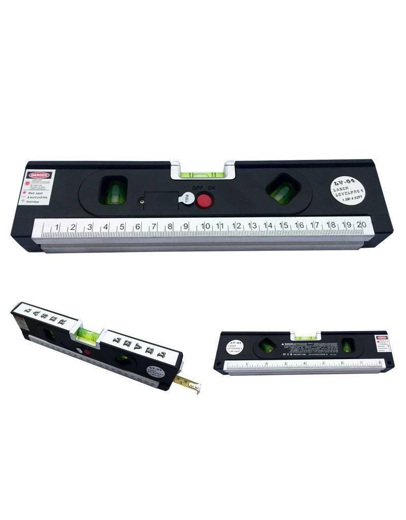 Gadget Dojo Laser-Niveau-Pro 4 Horizontale Vertikale Messgeraet