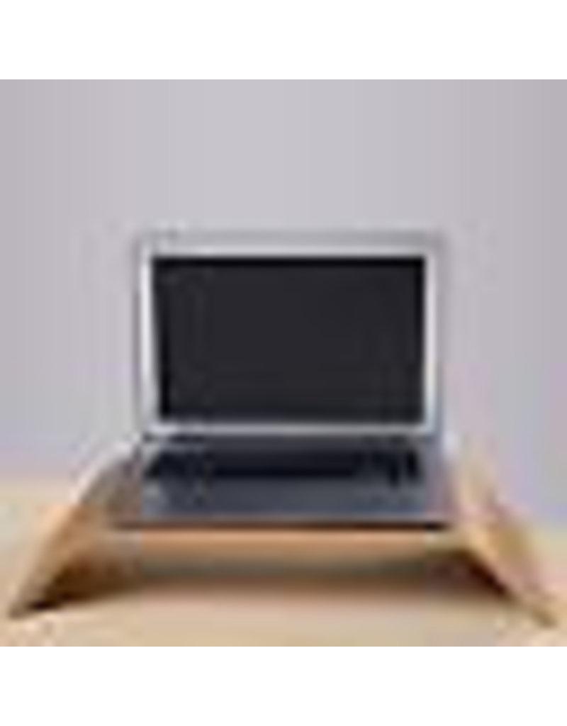 Samdi Ergonomische Houten Apple iMac of monitor verhoger - Walnoot