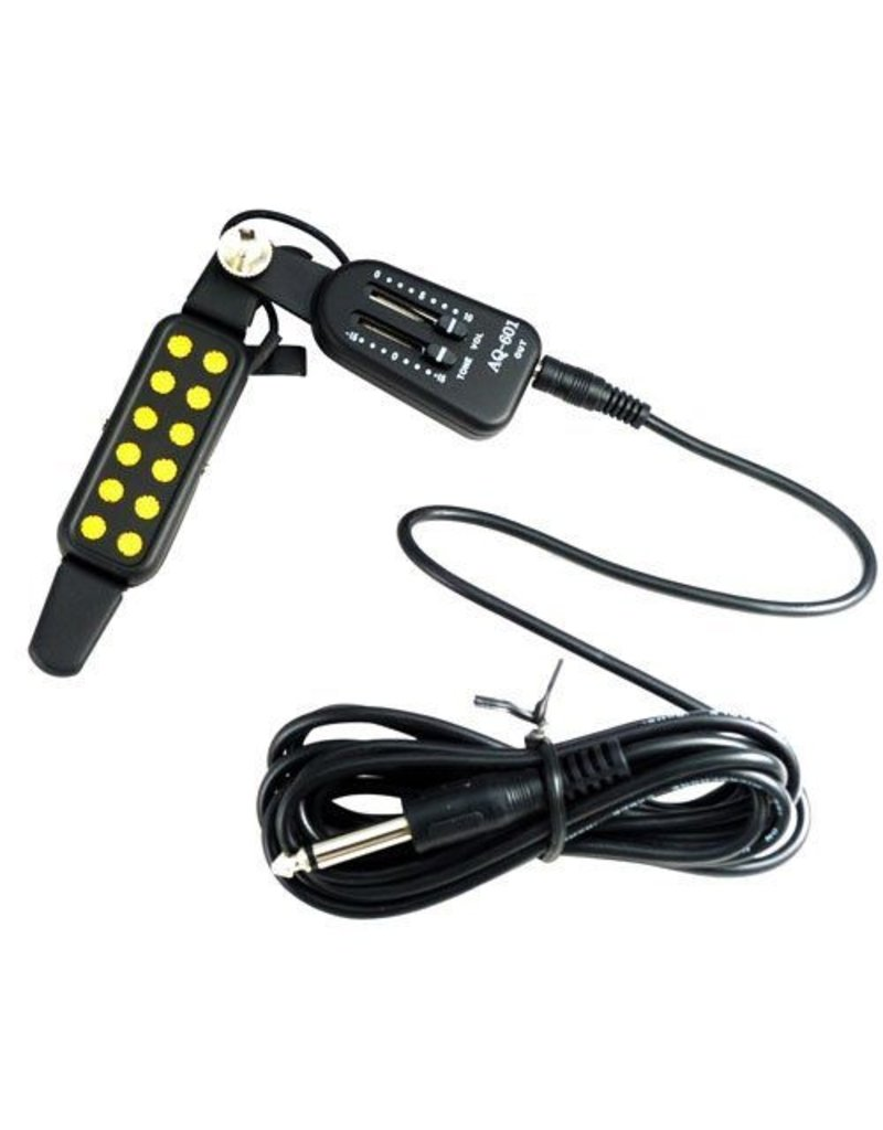 Gadget Dojo Akoestische Gitaar Pickup Wire Versterker Luidspreker Volume / Tone Control Box AQ-601