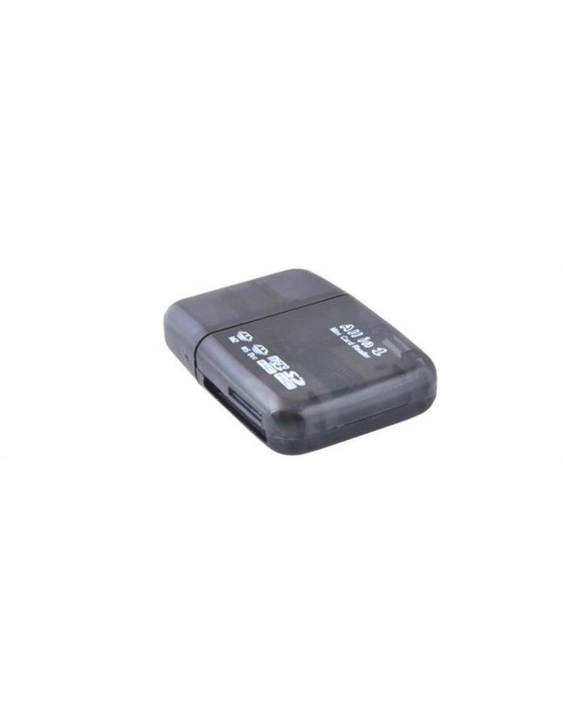 Gadget Dojo Mini USB  Card Reader All In One  - kaartlezer voor o.a. Micro SD &  SD