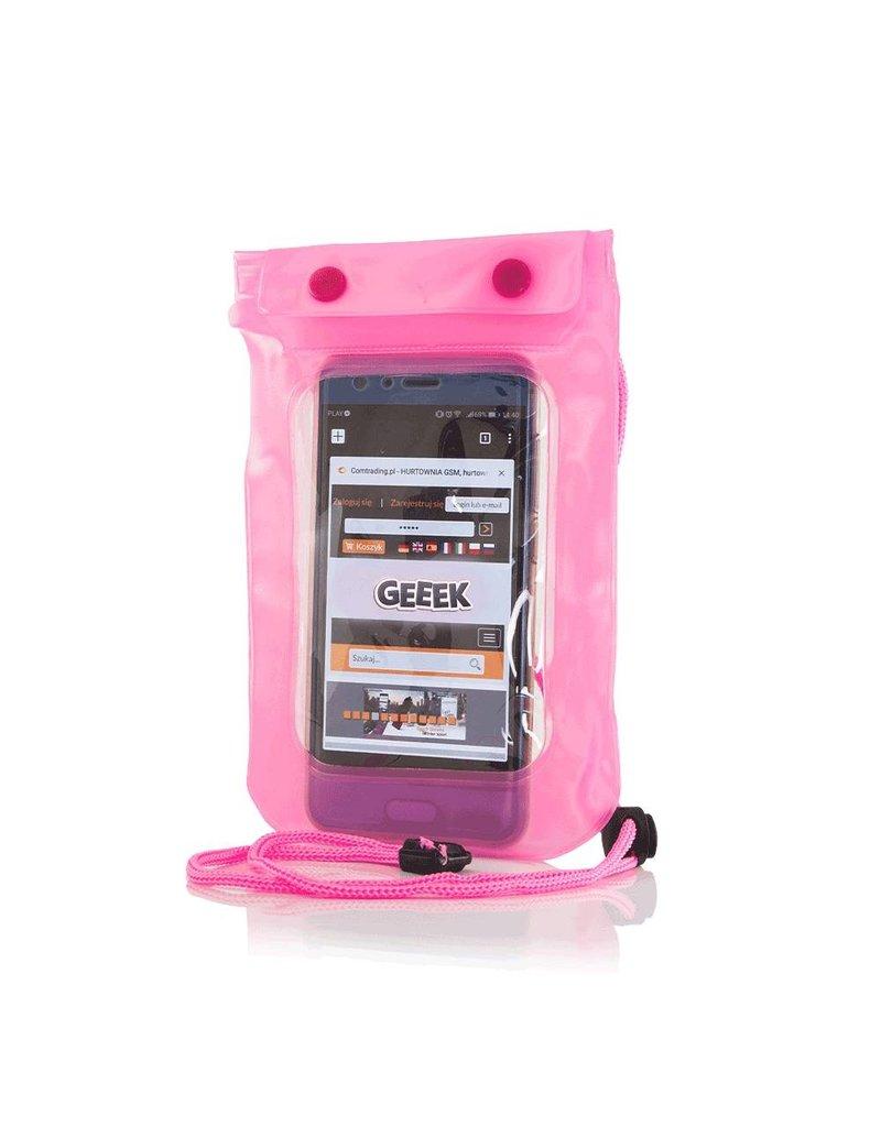 """Gadget Dojo Universele Waterdichte Waterproof Case 5.5""""  Roze"""