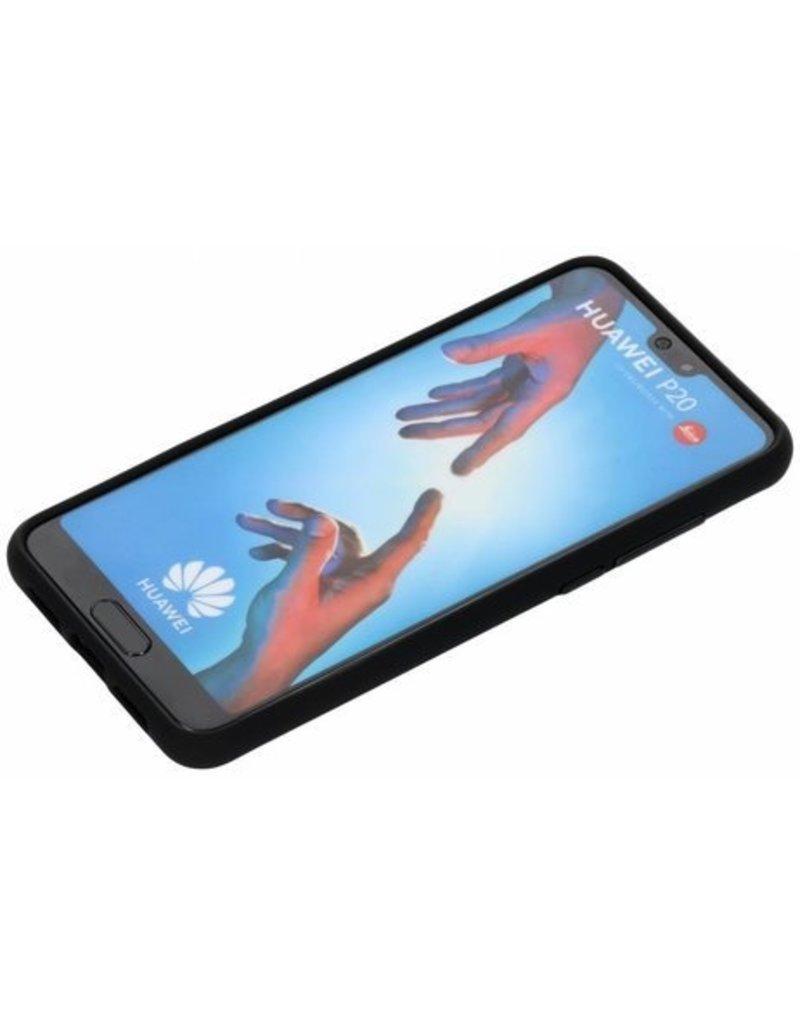 Gadget Dojo Mattschwarz Silikon TPU Case Huawei P20