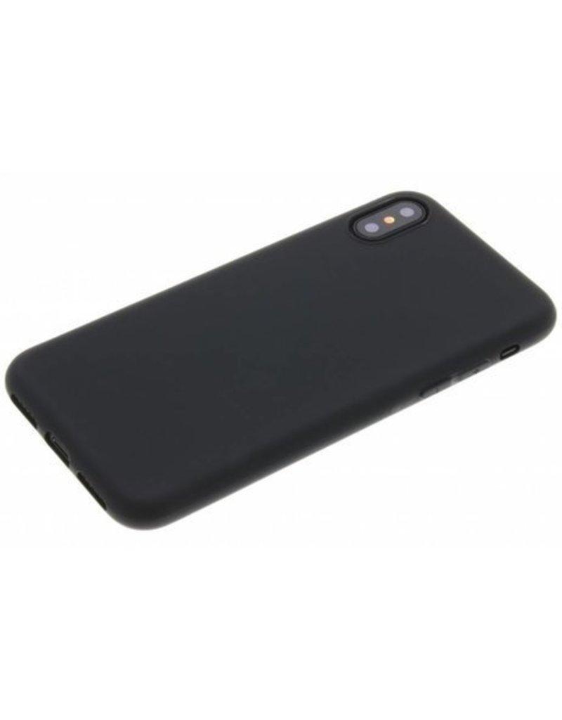 Gadget Dojo Mat Zwart Siliconen TPU Hoesje iPhone X / Xs