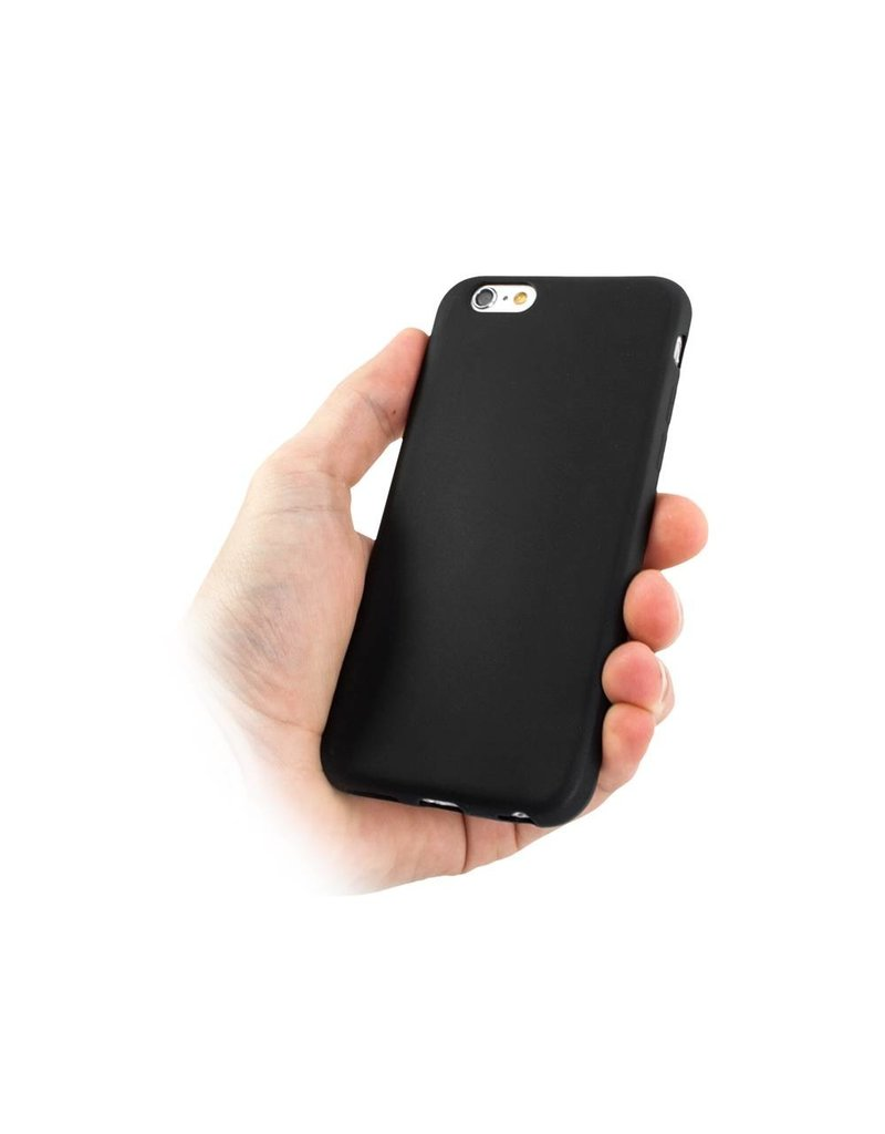 Gadget Dojo Mat Zwart Siliconen TPU Hoesje iPhone 6 / 6s