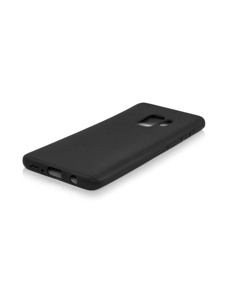Gadget Dojo Siliconen TPU Hoesje voor Samsung Galaxy S9 - Mat Zwart