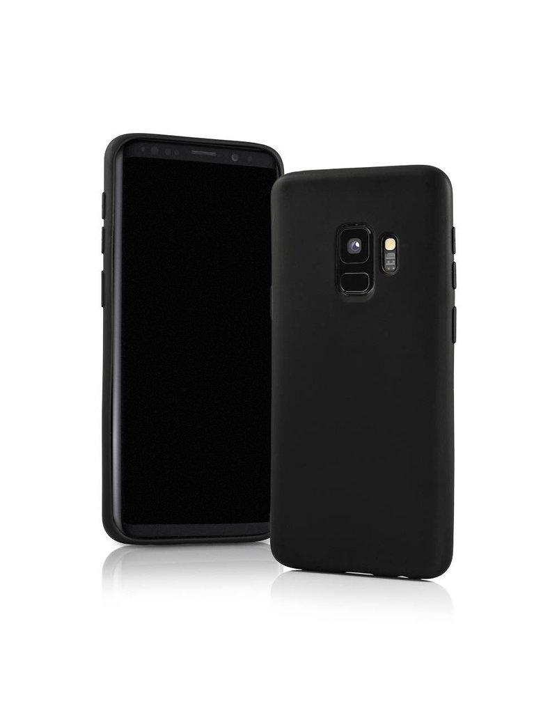 Gadget Dojo Mat Zwart Siliconen TPU Hoesje Samsung Galaxy S9 Plus
