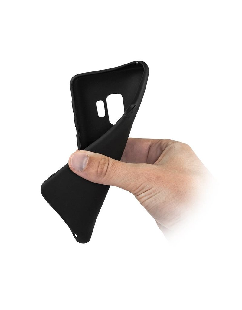 Gadget Dojo Mattschwarz Silikon TPU Case Samsung Galaxy S9 Plus