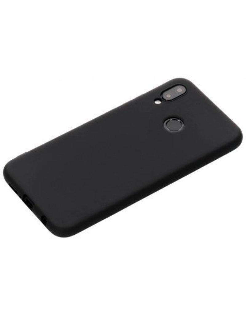 Gadget Dojo Siliconen TPU Hoesje voor Huawei P20 Lite - Mat Zwart