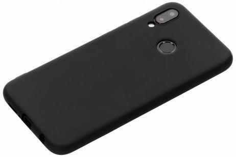 Siliconen TPU Hoesje voor Huawei P20 Lite - Mat Zwart