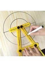 Gadget Dojo Hoekliniaal -  Vierhoekig Meetinstrument - Multi-hoeklineaal - Duimstok