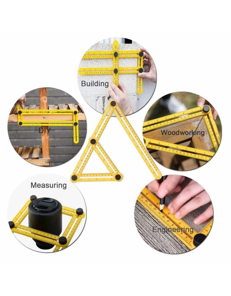 Gadget Dojo Anglizer - Vierseitenmessgeraet - Multi-Winkel-Lineal - Dreieck