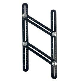 Gadget Dojo Aluminium Anglizer - Vierseitenmessgeraet - Multi-Winkel-Lineal - Dreieck