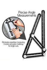 Gadget Dojo Aluminium Hoekliniaal -  Vierhoeking Meetinstrument - Multi-hoeklineaal - Duimstok