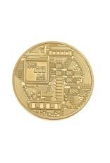 Gadget Dojo Echter' Goldene Bitcoin Muenze -  40mm