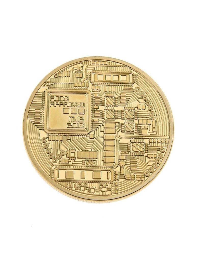 Gadget Dojo 'Echte' Gouden Bitcoin Munt -  40mm