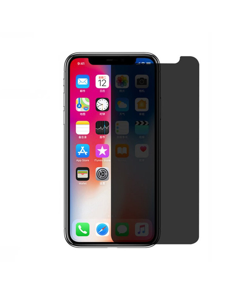Gadget Dojo Premium Tempered Glass 9H Privacy Screenprotector iPhone X