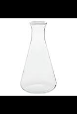 """Gadget Dojo Waterkaraf / Glazen Tafel Water Fles """"Erlenmeyer"""""""