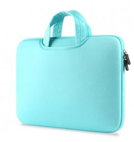 Gadget Dojo Airbag MacBook 2-in-1 sleeve / tas voor Macbook 12 inch / Macbook Air 11 inch Mint