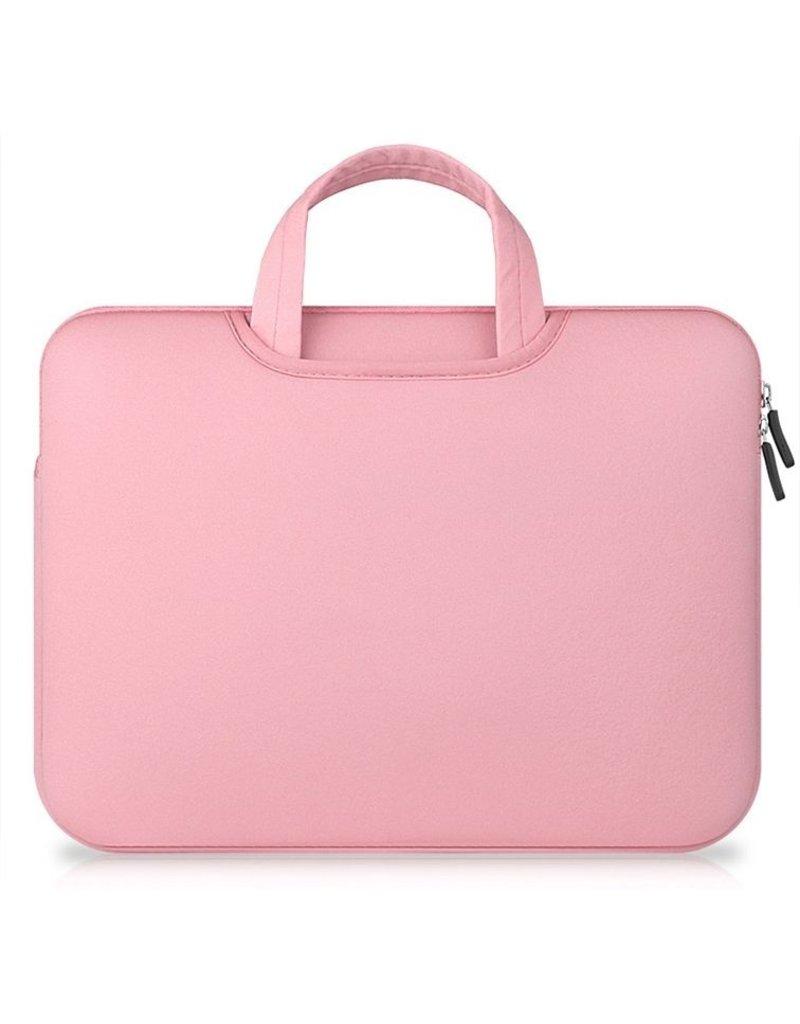 Gadget Dojo Airbag MacBook 2-in-1 sleeve / tas voor Macbook 12 inch / Macbook Air 11 inch Roze