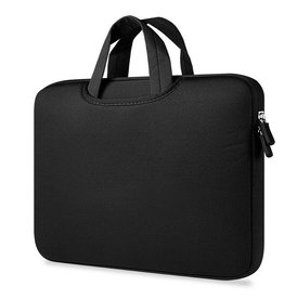 Gadget Dojo Airbag MacBook 2-in-1 sleeve / tas voor Macbook  Air / Pro 13 inch - Zwart