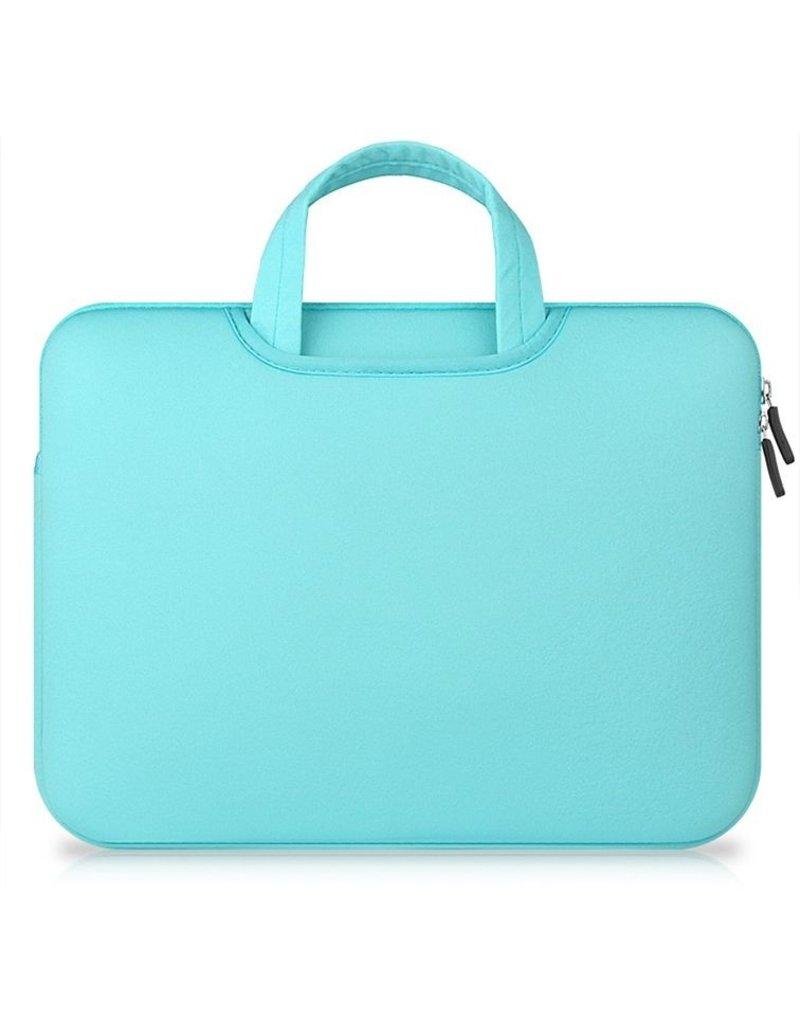 Gadget Dojo Airbag MacBook 2-in-1 sleeve / tas voor Macbook  Air / Pro 13 inch - Mint