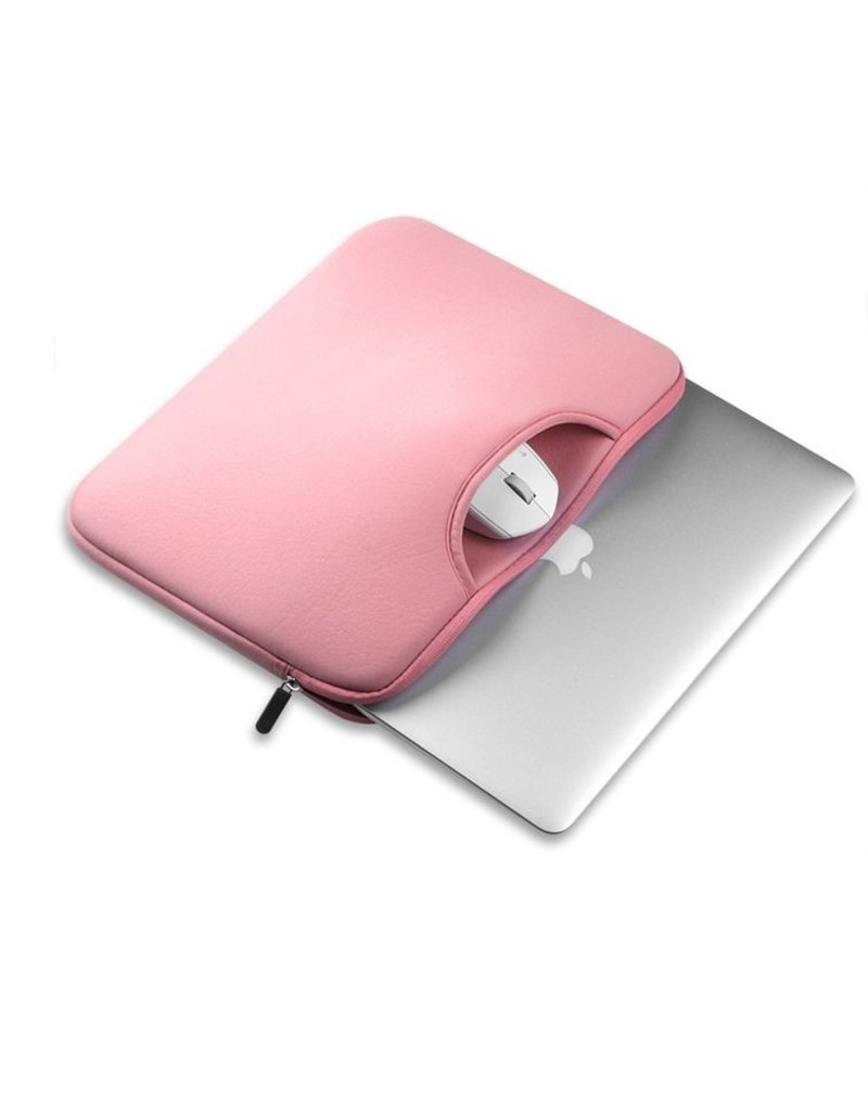Gadget Dojo Airbag MacBook 2-in-1 sleeve / tas voor Macbook  Air / Pro 13 inch - Roze
