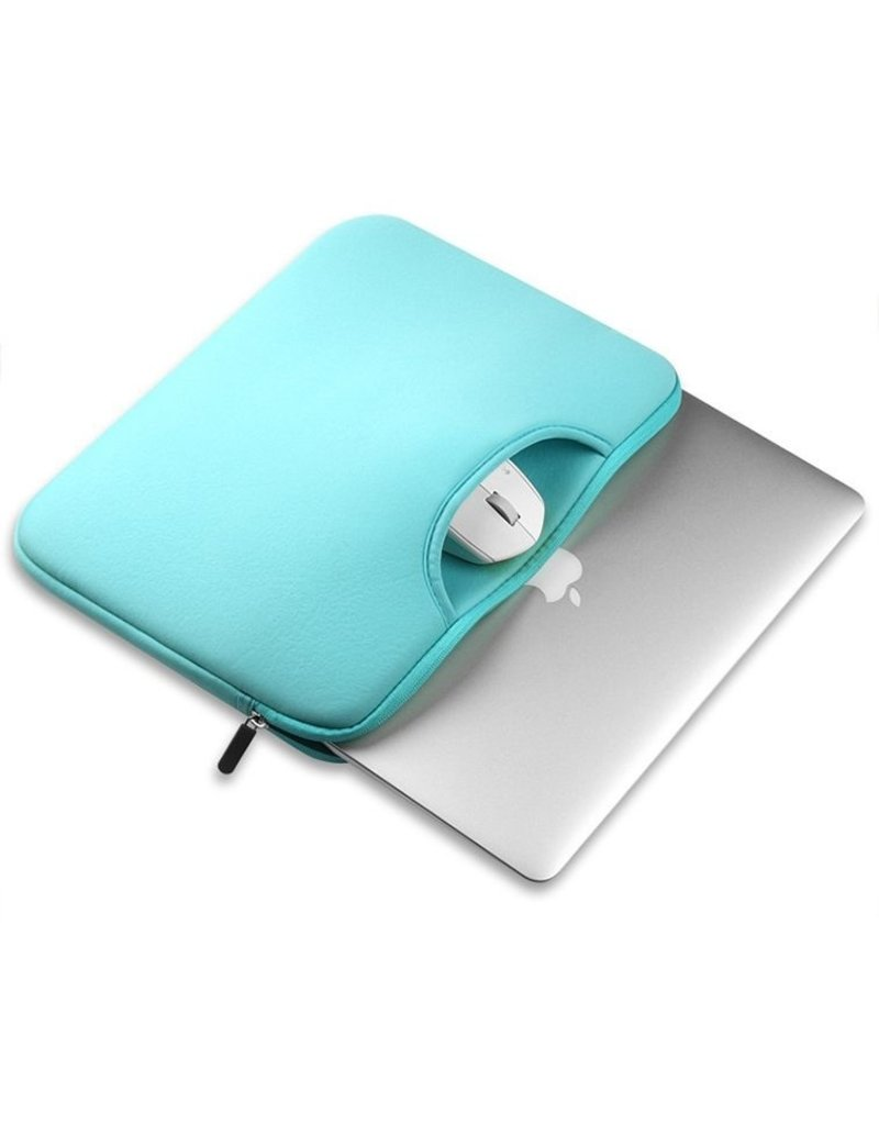 Gadget Dojo Airbag MacBook 2-in-1 sleeve / tas voor Macbook  Pro 15 inch - Mint