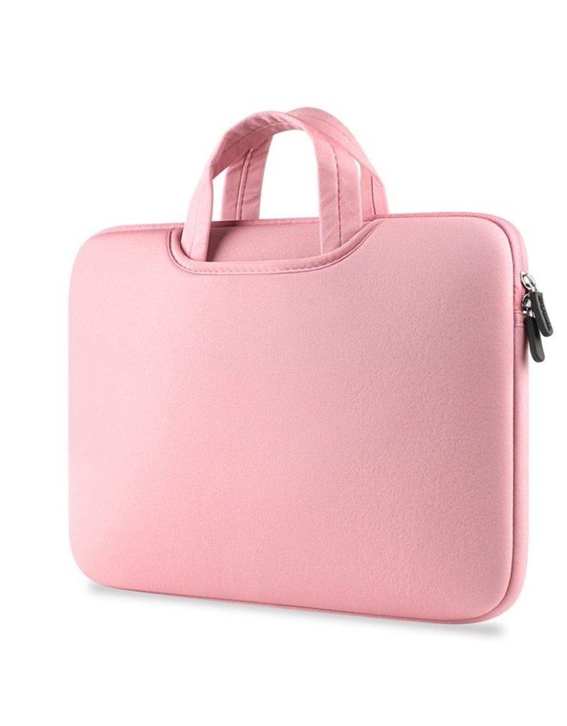Gadget Dojo Airbag MacBook 2-in-1 sleeve / tas voor Macbook  Pro 15 inch - Roze