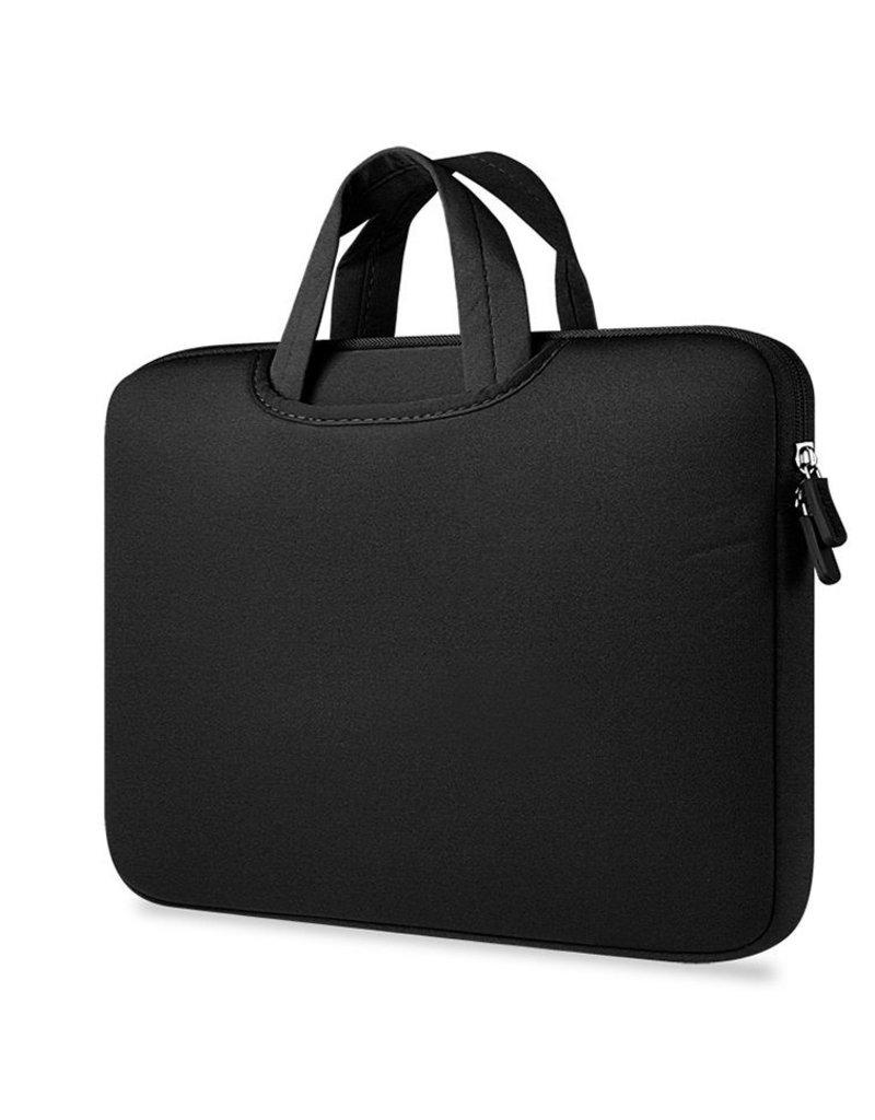 Gadget Dojo Airbag Universele 2-in-1 sleeve / tas voor laptops tot 14 inch - Zwart