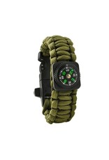 Gadget Dojo Paracord Armband Army Green 5-in-1 Tool Survival Outdoor Actief Lichtgewicht Waterdicht
