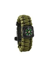 Gadget Dojo Paracord Armband Army Green 5-in-1 Werkzeug Überleben Outdoor Active Lightweight Waterproof
