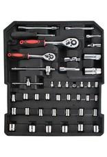 Gadget Dojo Werkzeugkofferwagen - Mit Werkzeugen auf Rädern gefüllter Werkzeugkofferwagen - Aluminium