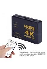 Gadget Dojo HDMI Switch 3 Poorts met Afstandsbediening Ultra HD 4K 3D