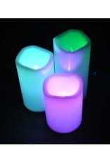 LED Kerzen Multi-Color Lighting - Set 3 Stück - inkl. Fernbedienung