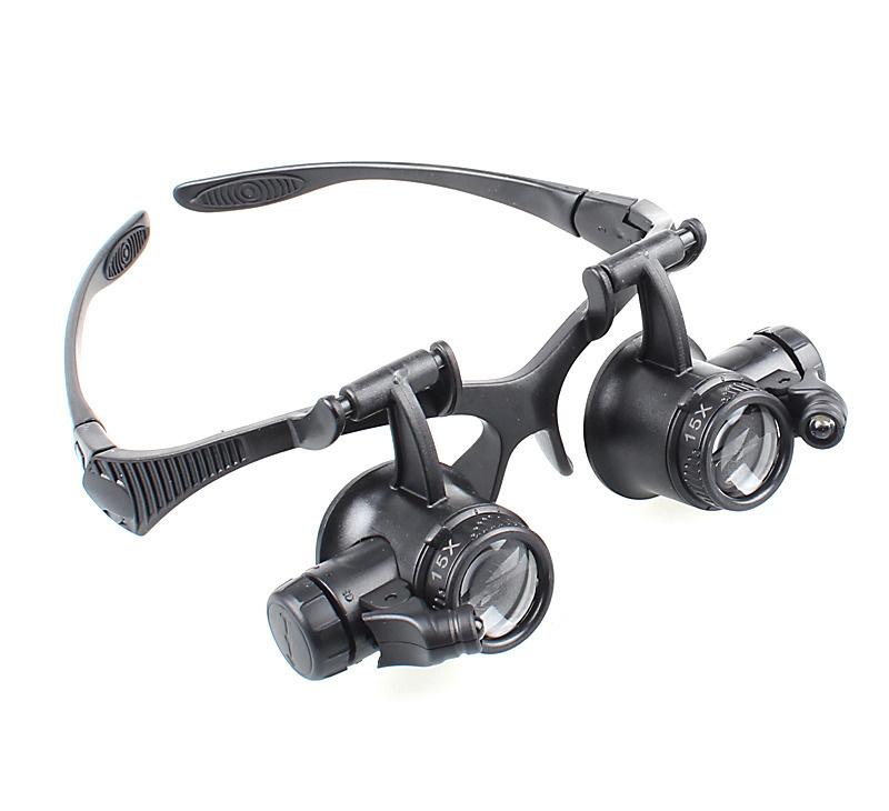 Lupe Doppel Uhrmacher Lupen Led Beleuchtung 20x Zoom Gadget Dojo