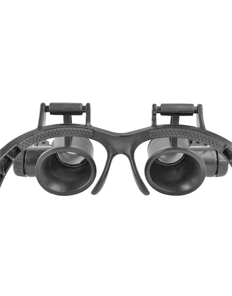 Vergrootglas Dubbele Horlogemaker Loep Bril LED Verlichting 20x Zoom