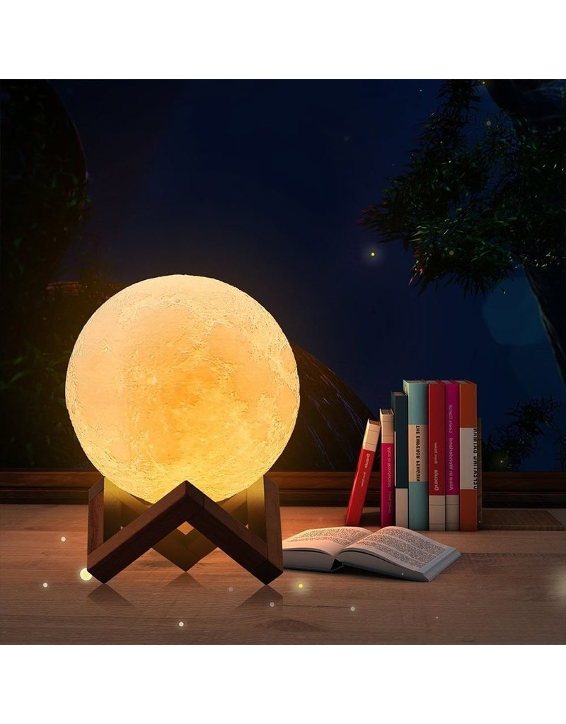 3D Maan Lamp - 16 kleuren - Kinderlamp - Tafellamp