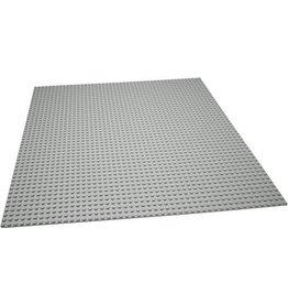 Geeek Grote Grundplatte Bauplatte für Legobausteine Grau 50 x 50