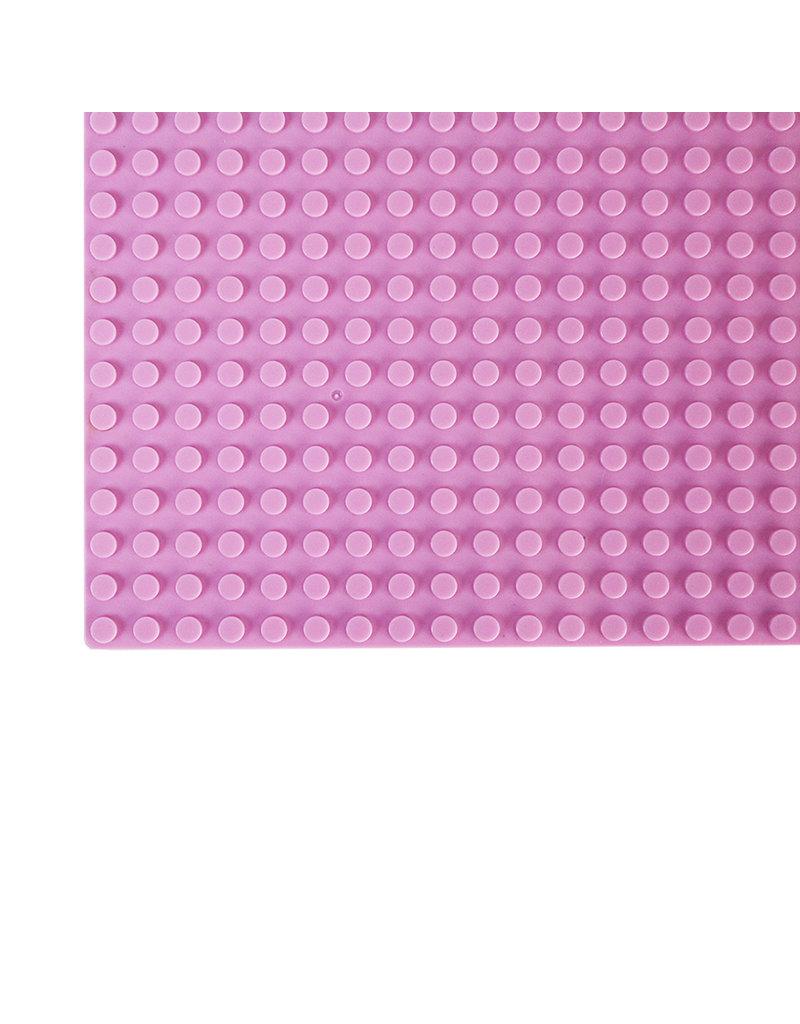 Grote Grondplaat Bouwplaat voor Lego Bouwstenen Licht Roze 50 x 50