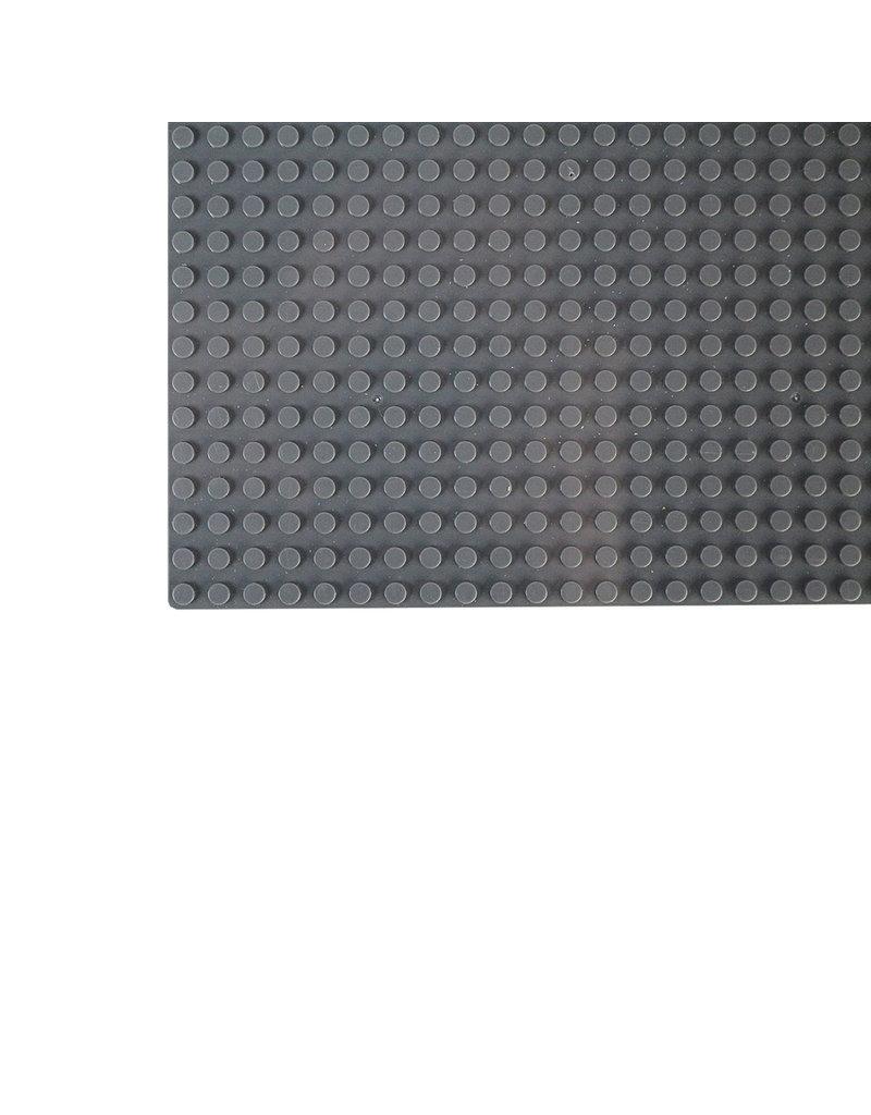 Große Grundplatte Bauplatte für Lego Bausteine Dunkel Grau 50 x 50