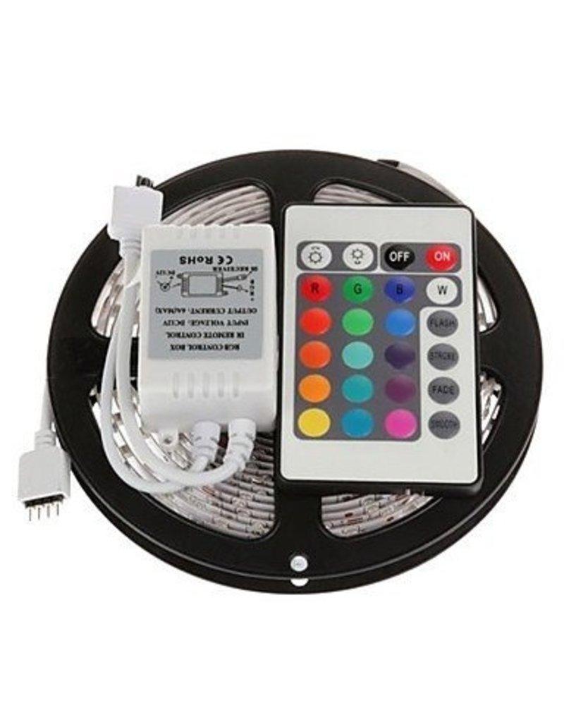 Led strip set RGB 3528 Leds- 5 meter -24 key afstandsbediening