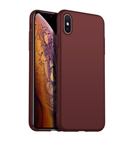 Back Case Cover iPhone X / Xs Hoesje Burgundy