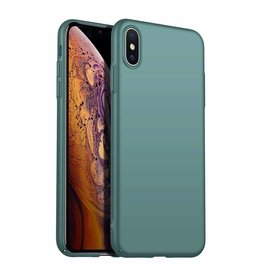 Back Case Cover iPhone X / Xs Hoesje Grey Blue
